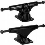 "BULLET 130 BLACK Skateboard Trucks Polished 7.6"" Pool Vert Street 130mm"